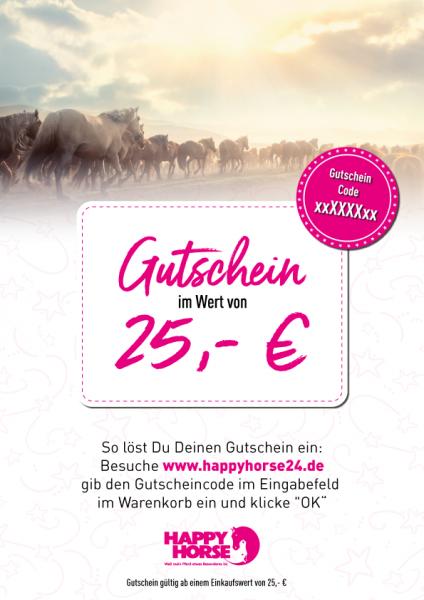 Happy Horse Gutschein im Wert von 25,00 Euro