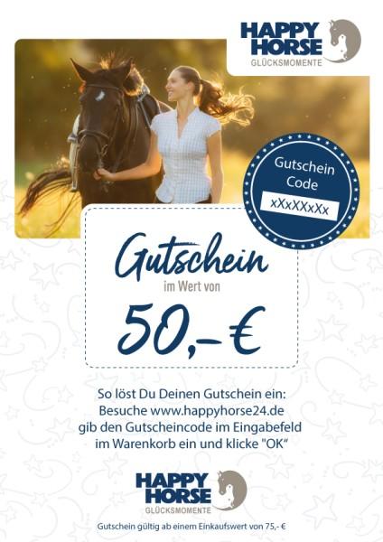 Happy Horse Gutschein im Wert von 50,00 Euro