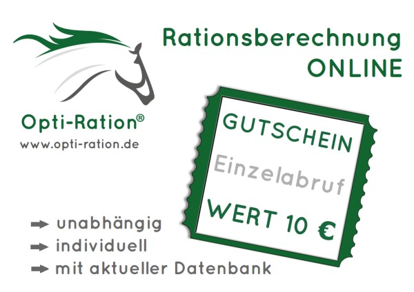 Gutschein Futterberechnung Opti-Ration