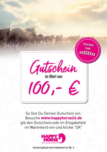 Happy Horse Gutschein im Wert von 100,00 Euro